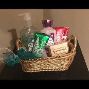 Holiday Soap and Cream Basket